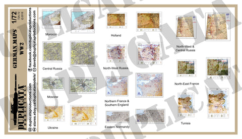 German Maps - WW2 - 1/72 Scale - Duplicata Productions