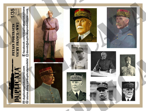 Vichy France Petain Portraits, WW2 - 1/35 Scale - Duplicata Productions