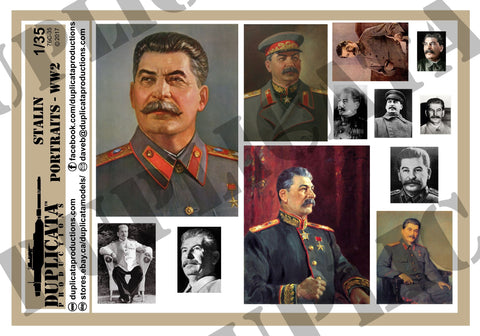 Soviet Stalin Portraits, WW2 - 1/35 Scale - Duplicata Productions