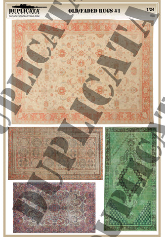 Old/Faded Rugs #1 - 1/24 Scale - Duplicata Productions