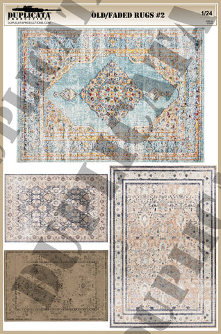Old/Faded Rugs #2 - 1/24 Scale - Duplicata Productions