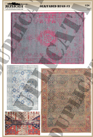 Old/Faded Rugs #3 - 1/24 Scale - Duplicata Productions