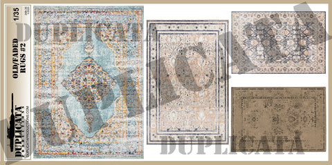 Old/Faded Rugs #2 - 1/35 Scale - Duplicata Productions