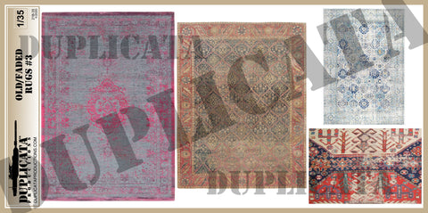 Old/Faded Rugs #3 - 1/35 Scale - Duplicata Productions