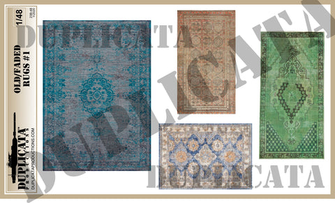 Old/Faded Rugs #1 - 1/48 Scale - Duplicata Productions