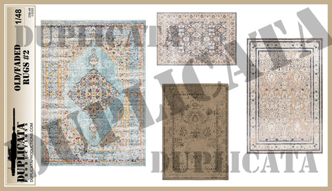 Old/Faded Rugs #2 - 1/48 Scale - Duplicata Productions
