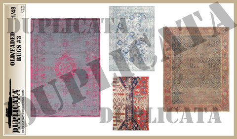 Old/Faded Rugs #3 - 1/48 Scale - Duplicata Productions