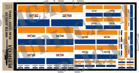 South African Flag (1928 - 1994) - WW2 - 1/72, 1/48, 1/35, 1/32 Scales - Duplicata Productions
