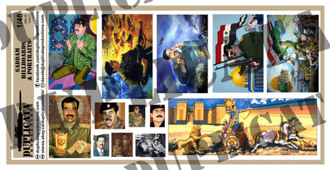 Saddam Billboards & Portraits - Iraq War - 1/48 Scale - Duplicata Productions