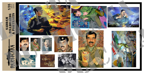 Saddam Billboards & Portraits - Iraq War - 1/35 Scale - Duplicata Productions