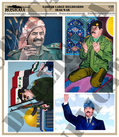 Large Saddam Billboard - Iraq War - 1/35 Scale - Duplicata Productions