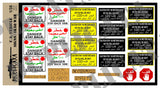 U.S. Vehicle Signs, Iraq War - 1/35 Scale - Duplicata Productions