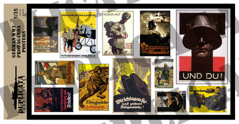 German WW1 Propaganda Posters - 1/35 Scale - Duplicata Productions