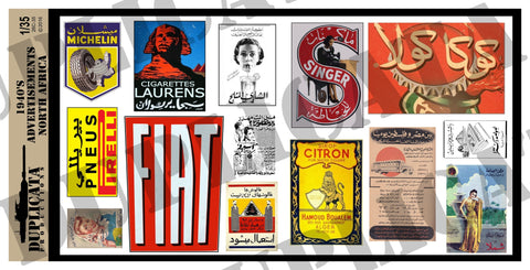Advertisements, North Africa -  1940's - 1/35 Scale - Duplicata Productions