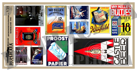 Advertisements/Posters, 1930s/40s Netherlands #3 -  WW2 - 1/35 Scale - Duplicata Productions