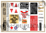 Allied Road Signs, North Africa -  WW2 - 1/48 Scale - Duplicata Productions