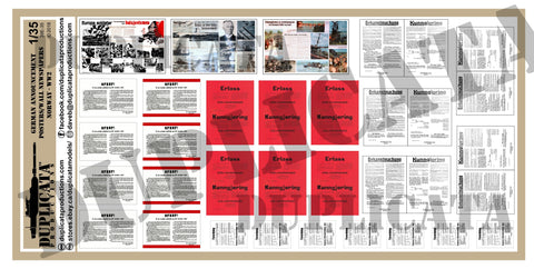 Announcement Posters - Occupied Norway, WW2 - 1/35 Scale - Duplicata Productions