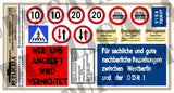 East German Berlin Wall/Border/Checkpoint Signs -1/35 Scale (3 sheets) - Duplicata Productions
