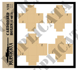 Cardboard Boxes w/Labels & Packing Tape - 1/35 Scale - Duplicata Productions