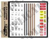 Cardboard Boxes w/Labels & Packing Tape - 1/35 Scale (3 sheets) - Duplicata Productions