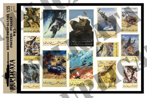 British WW2 Propaganda Posters in Persian - 1/35 Scale - Duplicata Productions