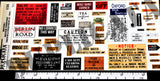 British & British Territories Trench & Field Signs #3 -  WW1 - 1/35 Scale - Duplicata Productions