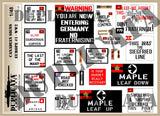 Canadian Road Signs, Europe #1 -  WW2 - 1/48 Scale - Duplicata Productions