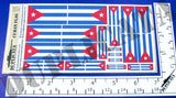 Cuban Flag - 1/72, 1/48, 1/35, 1/32 Scales - Duplicata Productions
