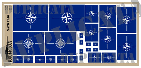 NATO Flag - 1/72, 1/48, 1/35, 1/32 Scales - Duplicata Productions