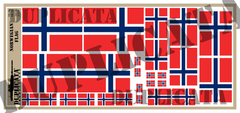 Norwegian Flag - 1/72, 1/48, 1/35, 1/32 Scales - Duplicata Productions