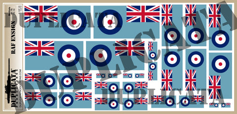 British RAF Ensign Flag - 1/72, 1/48, 1/35, 1/32 Scales - Duplicata Productions