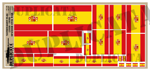 Nationalist Flag (1936 - 38) - Spanish Civil War - 1/72, 1/48, 1/35, 1/32 Scales - Duplicata Productions
