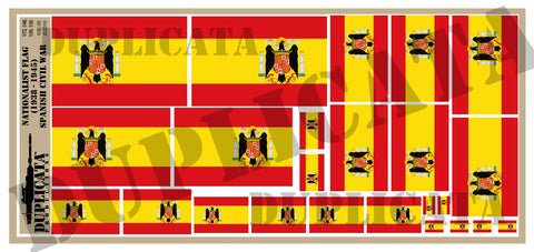 Nationalist Flag (1938 - 45) - Spanish Civil War - 1/72, 1/48, 1/35, 1/32 Scales - Duplicata Productions