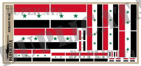 Syrian Flag - 1/72, 1/48, 1/35, 1/32 Scales - Duplicata Productions