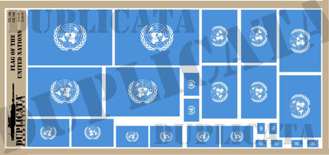 Flag of the United Nations - 1/72, 1/48, 1/35, 1/32 Scales - Duplicata Productions