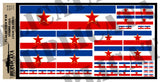 Yugoslavian Flag - Cold War - 1/72, 1/48, 1/35, 1/32 Scales - Duplicata Productions