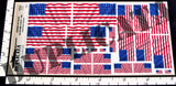 American Flag - 48 Stars (1912 to 1959) - 1/72, 1/48, 1/35, 1/32 Scales (w/Motion Ripples) - Duplicata Productions