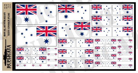 Royal Australian Navy Ensign Flag - 1/72, 1/48, 1/35, 1/32 Scales - Duplicata Productions