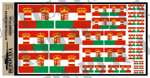 Flag of the Austro-Hungarian Empire - 1/72, 1/48, 1/35, 1/32 Scales - Duplicata Productions
