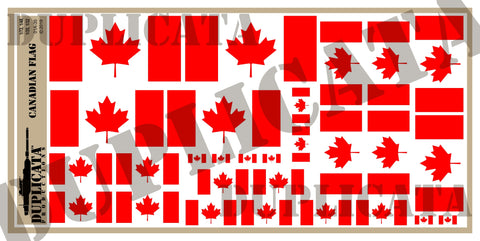 Canadian Flag - 1/72, 1/48, 1/35, 1/32 Scales - Duplicata Productions