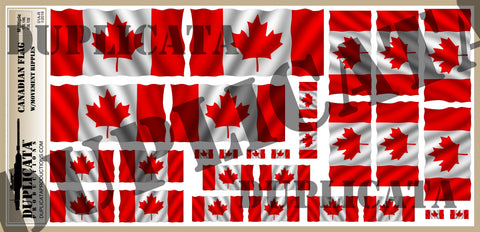 Canadian Flag - 1/72, 1/48, 1/35, 1/32 Scales (w/Motion Ripples) - Duplicata Productions