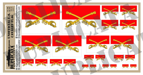 U.S. Cavalry Flag (Unofficial) - 1/72, 1/48, 1/35, 1/32 Scales - Duplicata Productions