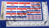Croatian Flags (1990 - ) - 1/72, 1/48, 1/35, 1/32 Scales - Duplicata Productions