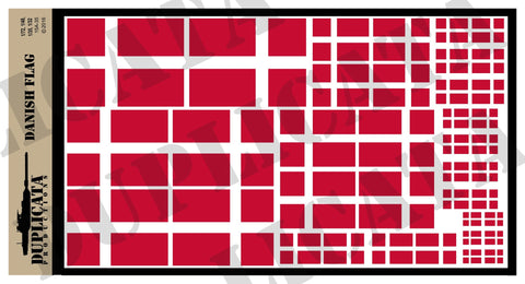 Danish Flag - 1/72, 1/48, 1/35, 1/32 Scales - Duplicata Productions