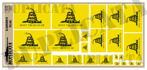 Gadsden Flag (Don't Tread On Me) - 1/72, 1/48, 1/35, 1/32 Scales - Duplicata Productions