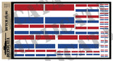 Dutch Flag - 1/72, 1/48, 1/35, 1/32 Scales - Duplicata Productions