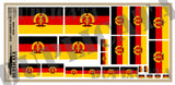 East German Flag (1959-1990) - 1/72, 1/48, 1/35, 1/32 Scales - Duplicata Productions