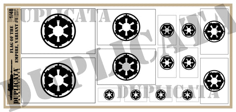 Flag of The Empire, Variant 1 - 1/48 Scale - Duplicata Productions
