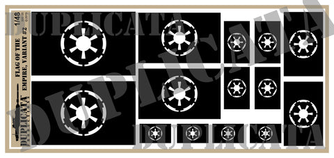 Flag of The Empire, Variant 2 - 1/48 Scale - Duplicata Productions