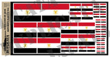 Flag of the Federation of Arab Republics - 1/72, 1/48, 1/35, 1/32 Scales - Duplicata Productions